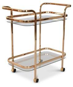 Serveringsvagn Frans - Rosè Guld - 1295 kr - Trendrum.se Furniture, Kitchen Cart, Interior Decorating, Interior, Home, Kitchen, Wine Rack, Home Treasures, Serving Trolley