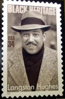 BLACK ART IN AMERICA - USA Postage Stamp Honoring African American Writer, Langston Hughes http://blackartinamerica.com/