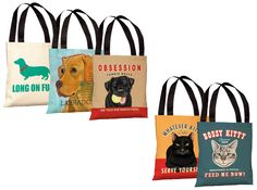 Designer Tote Bags for Dog & Cat Lovers.  Over 25 amazing options on sale today w/ Free Shipping @ www.Coupaw.com
