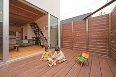 東和の家 | ソラマド写真集 Small Backyard Gardens, Terrace Design, Interior Garden, Owl House, Woodworking Bench, Contemporary Design, Beautiful Homes, Mid-century Modern, Outdoor Living
