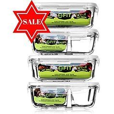 Amazon.com: 1 and 2 Amazon.com: 1 and 2 Compartment Glass Meal Prep Portion Control Food Storage Containers | BPA Free Microwave Oven and Dishwasher safe | Airtight and Leak Proof Lids | Bento Box Containers: Kitchen & Dining