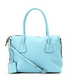Take a look at this Light Blue Colette Leather Tote on zulily today!