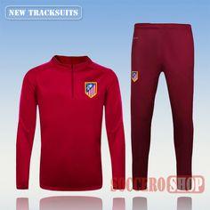 Newest Best Mens Atletico Madrid 2016 2017 Red Tracksuit Personalised Customised | Thai Edition