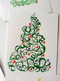 kerstkaarten tekenen droedelen zentangle