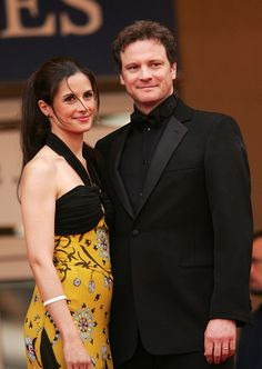 """Colin Firth Photos Photos - Actor Colin Firth and his wife Livia Giuggioli pose for a picture as they attend a screening of 'Where the Truth Lies' at the Grand Theatre during the 58th International Cannes Film Festival May 13, 2005 in Cannes, France. - Cannes - Premiere of """"Where the Truth Lies"""""""