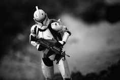 Squad automatic rifleman. Toy photography by instagrammer galactic_warfighters