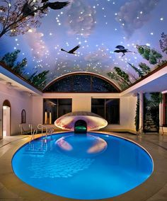 Celebrate 44th Anniversary Of Moon Landing With Interiors Inspired By The Cosmos Indoor Pools In