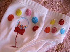 Bubble Gum Panty girls underwear size XXsmall by sugarandspicetees