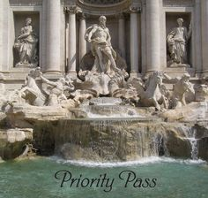 The Trevi Fountain in Rome, Italy, one of the most famous sculptures in the world, Rome is a definite dream destination for anyone wanting to see amazing sculpture , architecture and the arts, but also Italian food! #DreamDestinations #PriorityPass #TreviFountain
