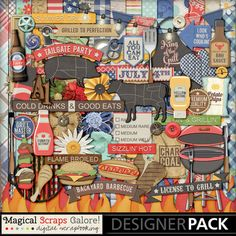 {License To Grill] Digital Scrapbook Kit by Magical Scraps Galore