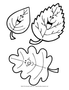 Animated Leaves, Lesson Plans - The Mailbox Fall Crafts, Diy And Crafts, Crafts For Kids, Preschool Printables, Preschool Crafts, Adult Coloring, Coloring Pages, Autumn Art, Color Shapes