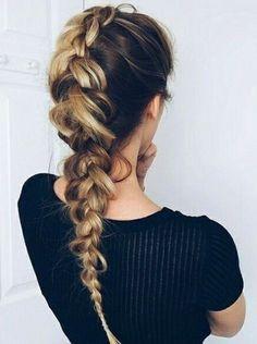 Odwrócony warkocz - fryzura na bad hair day