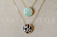 Monogram pendant necklace