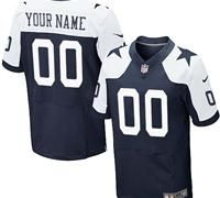 Nike Dallas Cowboys Customized Navy Blue Throwback Stitched Elite NFL Jersey