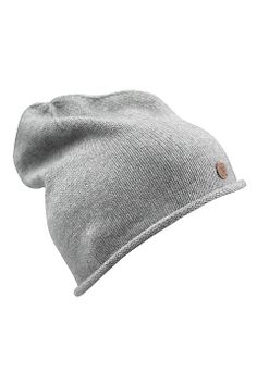 Áhkká Lys gråmelert Lue Beanie Single knit