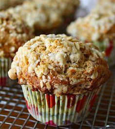 Jane's Sweets & Baking Journal: Banana Brown-Sugar Muffins with Crunchy Oat Streusel . . . Definitely Brunch Worthy!