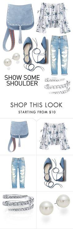 """""""Show Some Shoulder"""" by j7038675309 ❤ liked on Polyvore featuring Steve Madden, Gap and AK Anne Klein"""