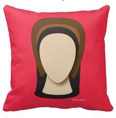 Hello History's Anne Boleyn 16x16 square pillow.