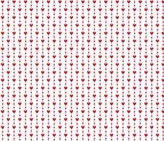 christmas red hearts fabric by misstiina on Spoonflower - custom fabric