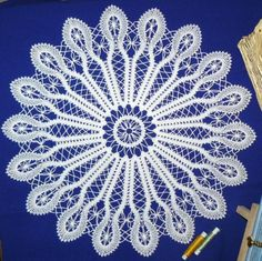 Advanced Embroidery Designs - FSL Battenberg Rising Sun Doily