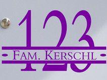 Hausnummer & Name 01 - 20x10cm - Briefkastentattoo
