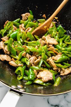 Chinese Ginger Pork Stir-Fry is the best Keto stir-fried pork recipe with a sweet/tangy pork tenderloin marinade and stir-fry sauce! Easy, fast, healthy! #porkrecipes #stirfry #tenderloin #ketorecipes #asianrecipes