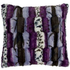 Image result for purple fur pillows