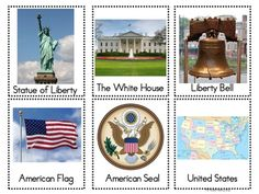 FREEBIE on TPT: American Symbols Interactive Pocket Chart Game (or just use cards for word wall, etc.)