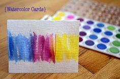 Sweet watercolor cards from: http://runningblonde.com/2012/05/26/easy-watercolor-cards/# paper craft, easi watercolor, diy paint, art, blond, simple diy cards, watercolor cards, cards diy, crafti idea