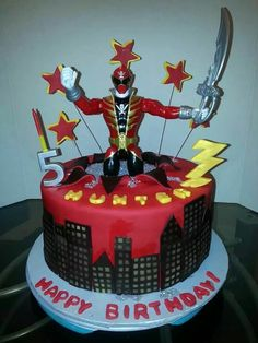 Power Rangers cake