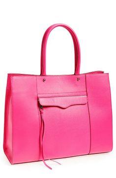 hot pink tote | rebecca minkoff