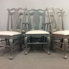 Chalk painted with Superior Paint Co. Trainstation, Midnight Hour and Coco Brown Dining Chair Makeover, Delicious Chocolate, Chocolate Brown, Chalk Paint, Bar Stools, Dining Chairs, Antiques, Painting, Color