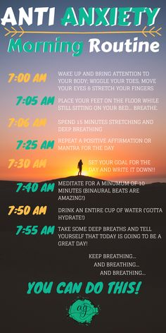 For a healthy and mindful start to your day, practice this morning routine fille. - For a healthy and mindful start to your day, practice this morning routine filled with natural anxi - Health Anxiety, Anxiety Tips, Anxiety Help, Stress And Anxiety, Mental Health, Overcoming Anxiety, Foods For Anxiety, Cope With Anxiety, Things To Help Anxiety