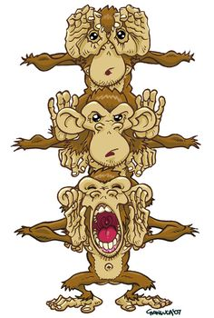 Three Monkeys by gianmac.deviantart.com on @deviantART
