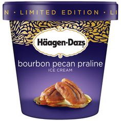Haagen-Dazs Bourbon Pecan Praline Ice Cream. This is soo good. The first taste was a shock--it for real tastes like likker--but it is tasty.