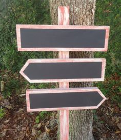 Chalkboard directionnel signe Vintage rustique bricolage de mariage