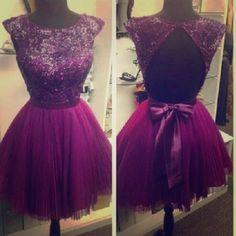 Dark purple short prom dress A dark purple dress with beading. Perfect for prom!! Dresses