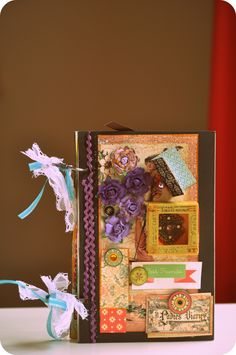 Mini Album- It took two days to complete but ah there it is BLISS ^-^  #minialbum #paper #scrapbooking