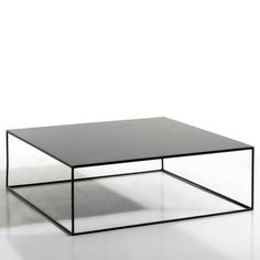 Romy Square Metal Coffee Table AM. The finesse of the leg frame gives this coffee table a sleek, graphic look which will fit seamlessly into any interior.Features: In epoxy finish. Black Coffee Tables, Coffe Table, Coffee Table With Storage, Square Coffee Tables, Metal Furniture, Table Furniture, Home Furniture, Furniture Design, Industrial Furniture