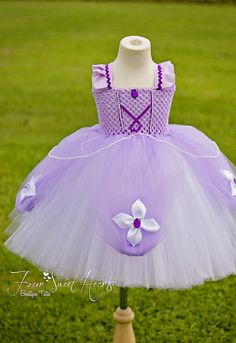 Princess Sofia Tutu Dress First Birthday by FourSweetHeartsTutus