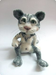 Matthew the Cat  felted toy by VladaHom on Etsy, $100.00