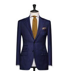 Tailored 2-Piece Suit - Fabric 4597 Plain Blue