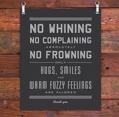 Warm fuzzy feelings