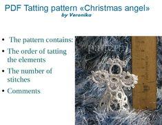 Christmas Angel 3D, PDF Tatting pattern, Tutorial photo in pdf, frivolite pattern by TattingPatternDesign on Etsy
