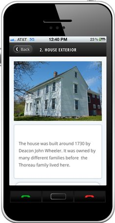 History buffs! Check out this #Toursphere #WebApp for the Thoreau family farm!