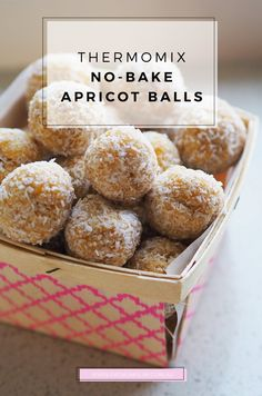 Watch out! There's no baking required with these little lunchbox treats. Discover the ever delicious Thermomix No Bake Apricot Balls Recipe here!