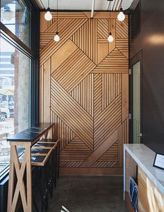 Smart Acoustics and Cozy Aesthetics Shape Office in Poznan – Design d'interieur – Wood Craft Diy Interior, Scandinavian Interior, Scandinavian Apartment, Simple Interior, Scandinavian Living, Interior Walls, Interior Decorating, Home Design, Design Ideas
