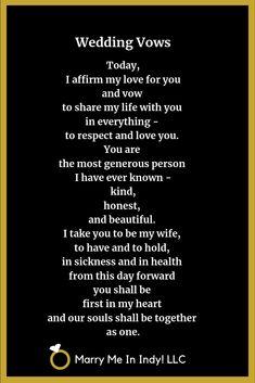 Real Wedding Vows, Modern Wedding Vows, Writing Wedding Vows, Romantic Wedding Vows, Wedding Vows Examples, Traditional Wedding Vows, Vows Bridal, Wedding Ceremony Script, Nontraditional Wedding