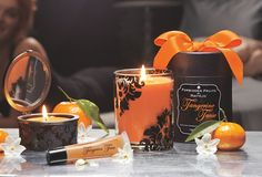 New Forbidden Fruit fragrance, Tangerine Tease. Juicy tangerine and orange is sweetened with a wink of vanilla. Starting July 28 at Parties and online. #PartyLite #candles. So in LOVE with this fragrance.