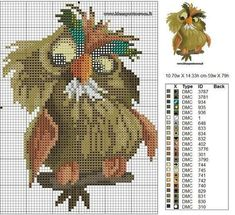Thrilling Designing Your Own Cross Stitch Embroidery Patterns Ideas. Exhilarating Designing Your Own Cross Stitch Embroidery Patterns Ideas. Cross Stitch Owl, Cross Stitch Animals, Cross Stitch Charts, Cross Stitching, Cross Stitch Embroidery, Embroidery Patterns, Hand Embroidery, Disney Cross Stitch Patterns, Cross Stitch Designs